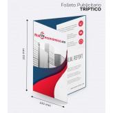 Tríptico Imprenta 100x210