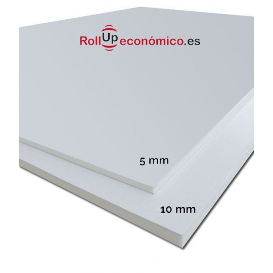 Cartón Pluma 5 y 10 mm.