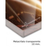Metacrilato transparente 10 mm.