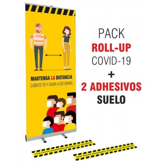 Pack Roll up COVID 85x200 cm