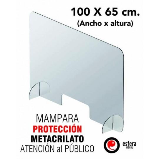Mampara protección covid 100 x 65 cm
