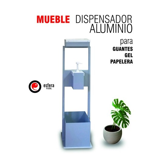 Mueble dispensador aluminio