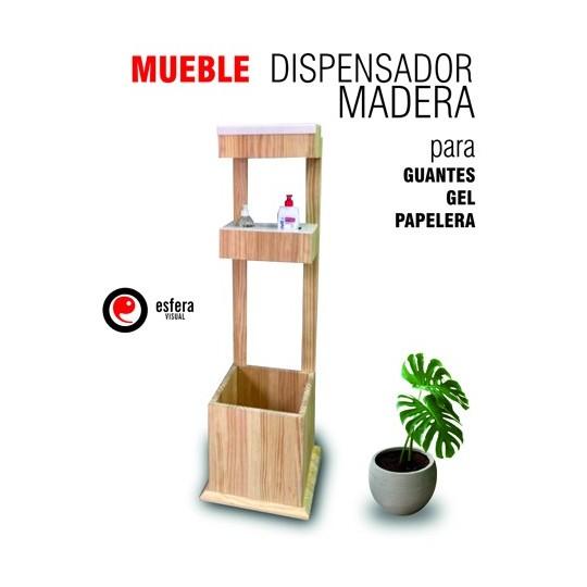 Mueble dispensador madera