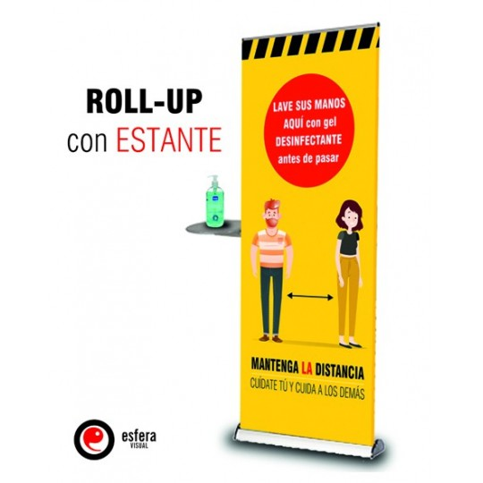 Roll up COVID con estante 80x200 cm