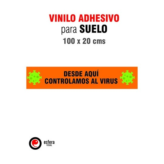 Pack 2 Adhesivos suelo virus