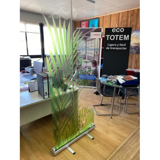 Roll-Up Transparente covid