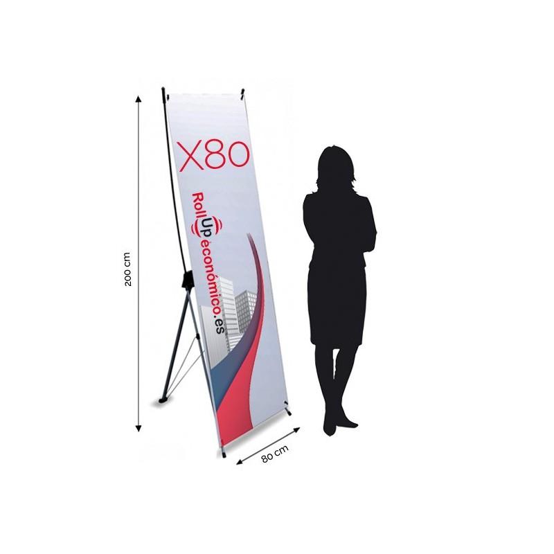 Xbanner 80x200 cm.