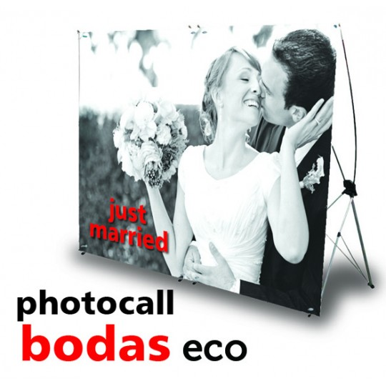 Photocall Bodas económico