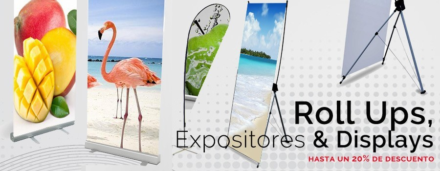 Roll up expositores y displays